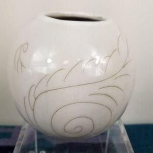 Glidden Feather Pattern Vase Bowl